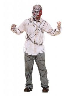 Stacheldraht-Zombie Halloween-Kostüm weiss-grau