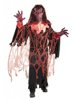 Teufel Halloween-Kostüm Dämon rot-schwarz