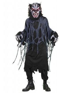 Werwolf Halloween-Kostüm schwarz