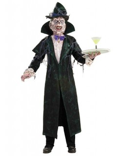 Horror-Vampir Halloween-Kostüm schwarz-weiss