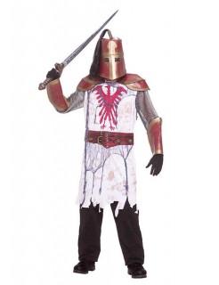 Zombie-Kreuzritter Halloween-Kostüm weiss-gold