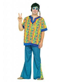 60er 70er Hippie Kostüm XL bunt