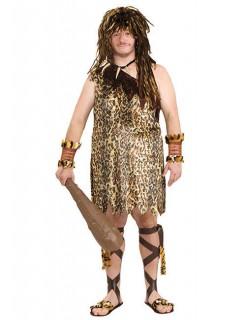 Höhlenmensch Kostüm Steinzeit beige-braun