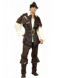 Mittelalter Bogenschütze Kostüm braun-creme