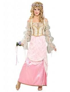 Mittelalter Prinzessin Damenkostüm rosa-beige