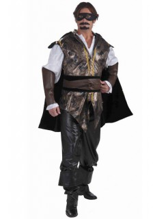 Don Juan Spanier Kostüm braun-schwarz