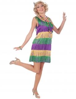 20er Charleston Flapper Damenkostüm lila-grün