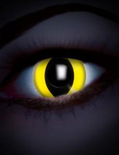 UV Kontaktlinsen Katze gelb-schwarz