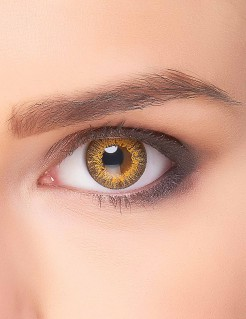 Kontaktlinsen Tiger braun