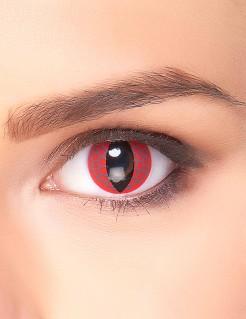 Kontaktlinsen Hasta La Vista weiss-schwarz
