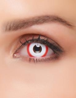 Kontaktlinsen Kreissäge weiss-rot