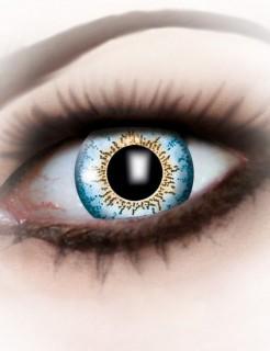 Kontaktlinsen Punkte blau-gelb