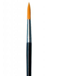 Make-Up Rundpinsel Grösse 10 schwarz-silber-braun