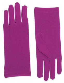 Damen-Handschuhe kurz lila