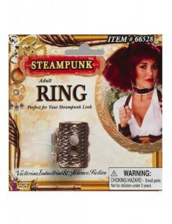 Steampunk-Ring Schlüsselloch Accessoire bronze