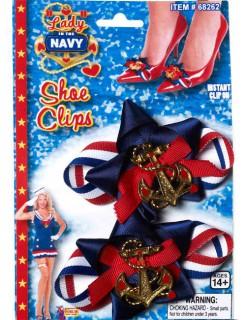 Matrosin Schuh-Clips Sailor Girl blau-rot