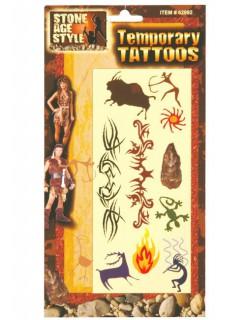 Steinzeit Tattoos Höhlenmensch braun
