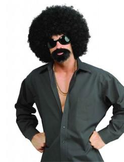 70er Disco Afro-Kostüm-Set Herren schwarz