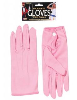 Kurze Handschuhe mit Knopf rosa