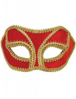 Venezianische Augenmaske rot-gold