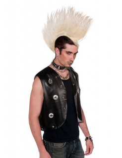 Punk Iro-Perücke Haarteil platinblond