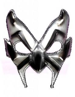 Venezianische Maske Teufel silber