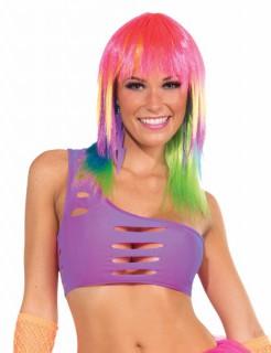 80er 90er Disco Bandeau-Top neon-lila