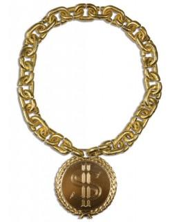 Pimp Halskette Dollar Rapper gold