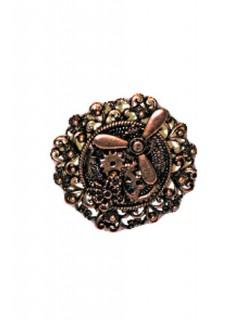 Steampunk Ring Zahnräder Propeller bronze