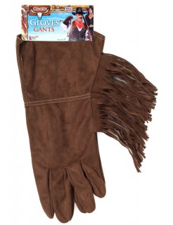 Cowboy Handschuhe mit Fransen braun