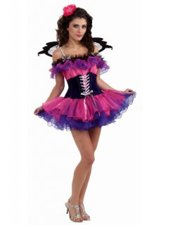 Fee Damenkostüm Elfe pink-schwarz