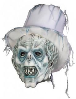 Zombie-Bräutigam Halloween-Maske weiss-hellblau