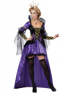 Sexy Königin Damenkostüm Märchen lila-schwarz