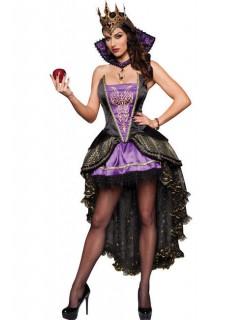 Burlesque Königin Damenkostüm Prinzessin schwarz-lila