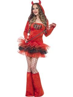 Heisse Teufelin Halloween Damenkostüm rot