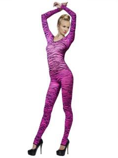Zebra Bodysuit pink-schwarz