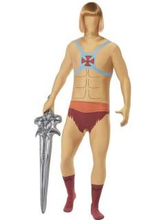 He-Man Second-Skin-Suit Kostüm haut-rot