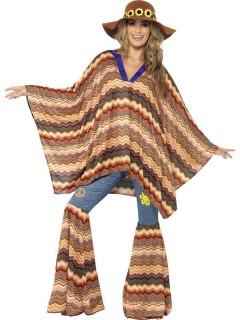 Hippie Kaftan Tunika 60er braun