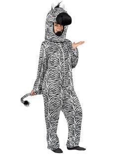 Zebra Kostüm schwarz-weiss