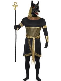Anubis Schakal Halloween Kostüm Antike schwarz-gold