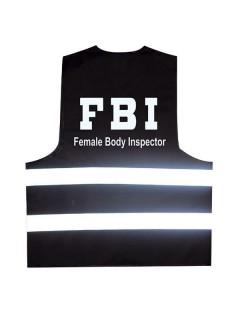 Partyweste FBI schwarz-weiss-silber