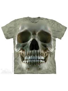 The Mountain Totenkopf T-Shirt Big Face Skull grau-beige