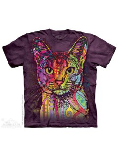 The Mountain Abyssinian T-Shirt lila-bunt