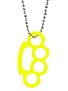 Halskette Schlagring neongelb 3x6cm