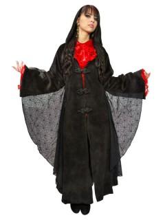 Gothic-Mantel Halloween schwarz
