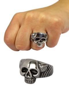 Gothic Metal Ring Schädel silber