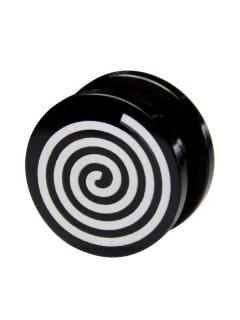 Plug Spirale schwarz-weiss 17mm