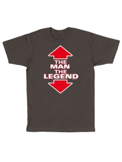 Funshirt The Man The Legend T-Shirt dunkelgrau-weiss-rot