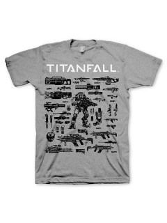 Titanfall - Choose your weapon T-Shirt Lizenzware grau-schwarz