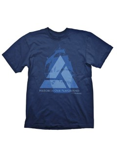 Assassins Creed 4 Black Flag Distant Lands T-Shirt blau